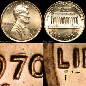 1970-S NEW DDO Lincoln Memorial Penny Cent ~ GEM BU Uncirculated RED ~ SKU-4113
