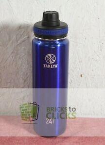 Takeya 24oz Originals Stainless Steel Water Bottle Spout Lid Blue