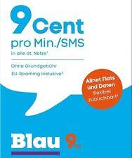 Blau Prepaid Simkarte Aktiviert - Registriert und Aktiv  (+11 GB FLAT GESCHENKT)