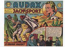 AUDAX première série n°14. BOB DAN. Ed. Artima 1950.