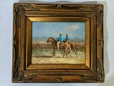 Ornate Framed Oil Painting, Painting 8x10 inches, Cowboy, Horse, Western