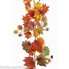 6 FT (environ 1.83 m) feuilles d'automne en Soie Artificielle Display Décoration Guirlande 1.82 M Maple Leaf
