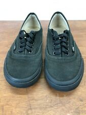 VAN'S BLACK TB9C LOW TOP SNEAKERS - MEN'S SIZE 8 - WOMAN'S SIZE 9.5