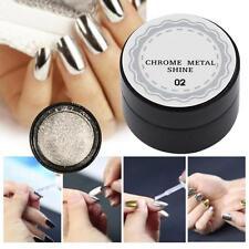 5g Silver Mirror Powder Metallic Effect Dust Chrome Pigment Shinning Nail Art MT