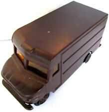 """UPS Delivery Truck with Roll Up Plastic Rear Door  5 1/2"""" long Brown 1977"""