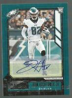 2020 Panini Playbook John Hightower IV Rookie RC Auto 🔥 Philadelphia Eagles
