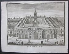 1743 BORSA DI LONDRA etching Thomas Salmon Albrizzi Royal Exchange London Stock