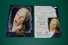 Rare Buffy Spike Card- James Marsters Extremely Get it Autographed! Inkworks