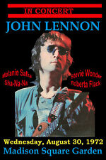 John Lennon at Madison Square Garden Last Concert Poster 1972