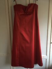 Deep Red Full Length Evening Dress Gown Debut 20 BNWT prom Bridesmaid Cruise