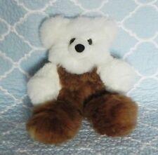 New 100% Baby Alpaca 12� Teddy Bear Soft Fluffy Cuddly White Brown Phenomenal