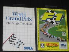 WORLD GRAND PRIX (1986) & F1 (1993) -  SEGA MASTER SYSTEM - COMPLETOS !!! PAL