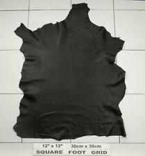 Cuir nappa Noir trapu avec grain prononcé 1.2/1.4mm BARKERS cuir N289