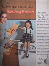 PUBLICITÉ DE PRESSE 1962 CELLOPHANE POUR LES BISCUITS - ADVERTISING
