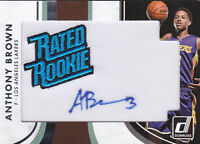 2015-16 Donruss Rated Rookie Signature Patches #1 Anthony Brown RC Auto