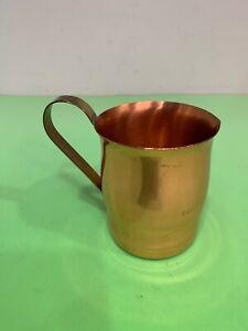 Vintage Coppercraft Guild Copper Cup Mug W/Brass Handle