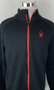 Spyder Core Sweater Full Zip Jacket Mens XL Heavy Sweater Black XL
