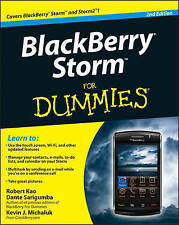 NEW PHONE BOOK BlackBerry Storm For Dummies - Robert Kao (Paperback) 2ND QUALITY