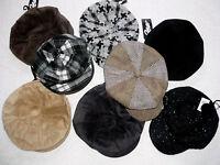 Ladies Mens 8 Panel Baker Boy Newsboy Cabbie Cap Hat Black/Brown/Beige Corduroy