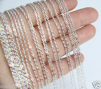 Wholesale Bulk 5 pcs Silver Plated Brilliant Necklace Chain 17.7 inch Quality