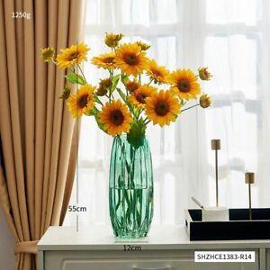 Transparent Color Glass Vase Nordic Modern Tabletop Flower Pot Terrarium Plant