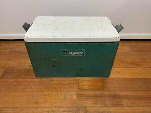 Vintage Large Metal MALLEYS esky Portable Cooler Galvanised Inner, Bottle Opener