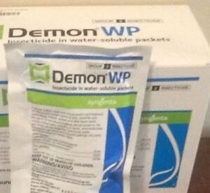 Demon WP insecticide roach flea spray insect control 12 envelopes 40% cyper NIB