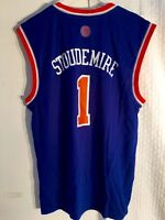 Adidas NBA Jersey New York Knicks Amare Stoudemire Blue Throwback sz ... bbaf657fd