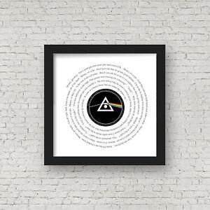 Pink Floyd - Money - Framed Song Lyrics - Dark Side of The Moon - Gift for Dad