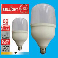 1x 60W (=300W) T160 LED Light Bulb 4000K Cool White Edison Screw ES E27/GES E40