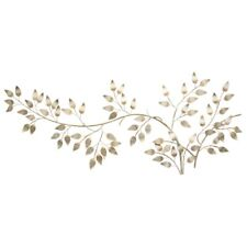 Brushed Gold Leaves Hanging Interior Wall Art Home Decor