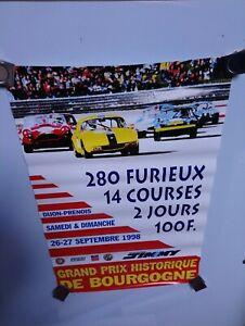 Grand Prix Historique De Bourgogne 1998 At Dijon Original Event Poster