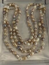 Hinson Gayle Ultra-Iridescent Baroque Freshwater Cultured Pearl Rope 65 inch