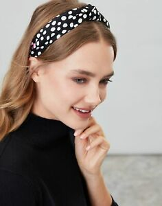 Joules Womens Lovett Headband - Black Spot - One Size
