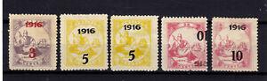 LIBERIA 1916 Mi# 144-146 + ERROR ( INVERTED OPT)