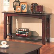 Abernathy Dark Cherry Occasional Sofa Console Table by Coaster 700009