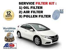 Per HONDA CIVIC 1.8 i VTEC r18z4 FK2 2012 -- > NUOVO Olio Aria Polline Filtro Service Set
