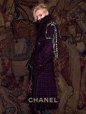 CHANEL 2013 13A Runway Tweed Wool Pleated Belted Coat Jacket Manteau 42 FR $9620