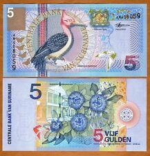 Suriname / Suriman, 5 Gulden, 2000, P-146, UNC -> colorful