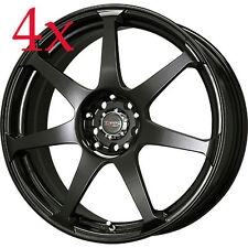 Drag Wheels DR-33 16x7 4x100 4x114 Black Rims For Crx Mini Cooper 323 Mx5 Accord