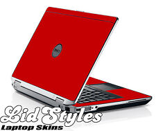 LidStyles RED Vinyl Laptop Skin Decal Protector fits Dell Latitude E6420 6420