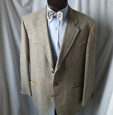 Vintage,PHOENIX CLOTHES,Blue,Tan Tweed,Western-style,Sport Coat,46 L