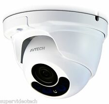 AVTECH DGC1204 TVI IR Dome 1080P 3.6mm Lens,Low Light, Wide Angle,IP66 Outdoor