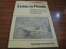 LIABLE TO FLOODS VILLAGE LANDSCAPE ON THE EDGE OF THE FENS BY J R RAVENSDALE