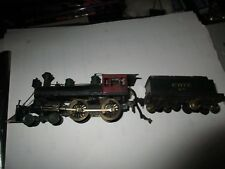 HO SCALE BRASS ANTIQUE STEAM  LOCOMOTIVE  ERIE RR 4-4-0 W/TENDER