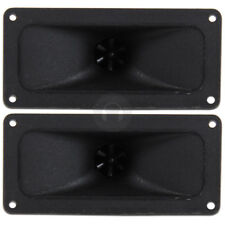 2x Black Piezo Horn Flare Tweeters Spare Speaker Replacement Parts 300W SSC2202