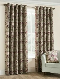 Belfield Furnishings Riga floral Fully Lined Eyelet readymade curtains