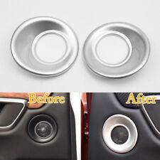 For Honda CRV 17 Car Front/Rear Door Stereo Speaker Cover Trim Matte ABS Chrome