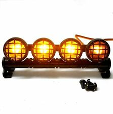 L-046Y 1/10 Monster Truck Body Shell Roof Mount Light Set Yellow Grid 4 LEDs