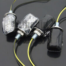 4x E-mark 6 LED Stalk Motorcycle Mini Amber Turn Signal Lights Blinker Indicator